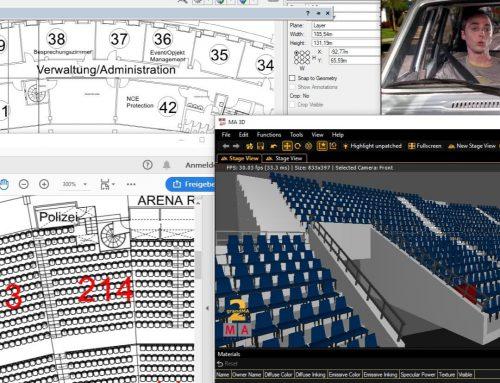 Neues Projekt mit einer sehr genauen GrandMA 3D Visualisierung